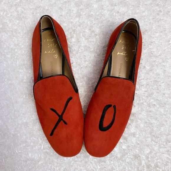 Banana Republic Shoes - Banana Republic X O suede demi smoking loafer 7.5